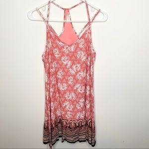 Altar'd State Pink Cami Style Elephant Print Dress